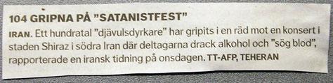 """104 gripna på """"Satanistfest"""""""